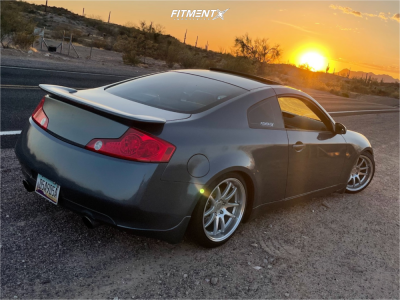 2005 Infiniti G35 - 18x9.5 22mm - Aodhan Ds02 - Coilovers - 235/40R18