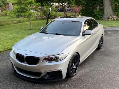 2015 BMW M235i - 18x8.5 35mm - VMR V710 - Lowering Springs - 225/40R18