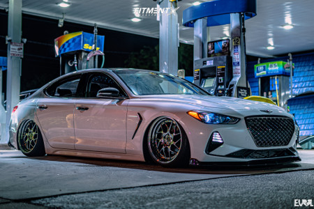 2020 Genesis G70 - 19x9.5 22mm - Aodhan Ds01 - Coilovers - 225/35R19
