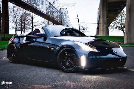2008 Nissan 350Z - 18x9.5 12mm - Rays Engineering 57cr - Coilovers - 255/35R18
