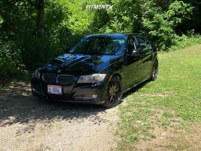 2009 BMW 335d - 18x8.5 35mm - F1R F21 - Stock Suspension - 245/40R18