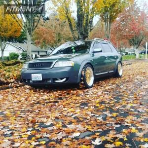 2003 Audi Allroad Quattro - 18x8 30mm - STR 606 - Coilovers - 245/40R18