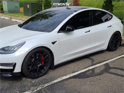 2020 Tesla 3 - 19x9.5 35mm - Enkei Raijin - Coilovers - 265/35R19