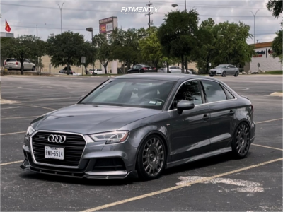 2017 Audi A3 Quattro - 18x8 35mm - OZ Racing Rally Racing - Coilovers - 225/40R18