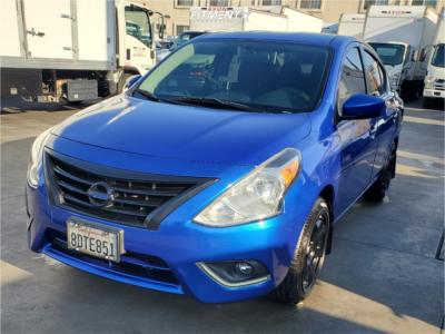 2016 Nissan Versa - 17x8 35mm - AVID1 Av6 - Stock Suspension - 205/50R17