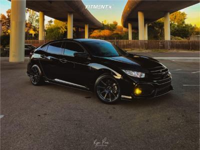 2019 Honda Civic - 18x9.5 35mm - Enkei Ts10 - Lowering Springs - 255/35R18