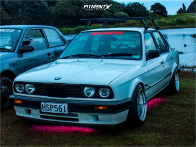 1989 BMW 325i - 15x8 0mm - Work Meister - Coilovers - 195/50R15