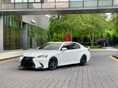 2018 Lexus GS350 - 19x9.5 40mm - Motegi Mr151 - Lowering Springs - 245/40R19
