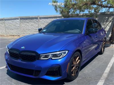 2021 BMW M340i - 19x8.5 25mm - Ferrada Fr2 - Stock Suspension - 245/40R19