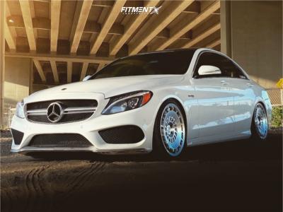 2015 Mercedes-Benz C400 - 19x8.5 45mm - Rotiform Ccv - Air Suspension - 255/35R19