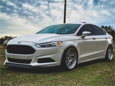 2013 Ford Fusion - 19x8.5 30mm - ESR Cs11 - Coilovers - 235/40R19