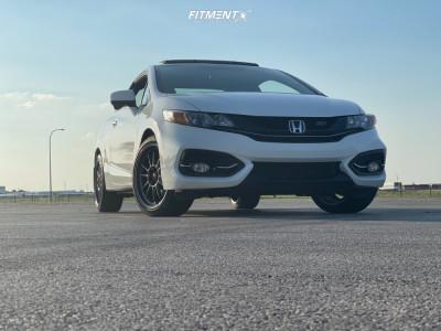 2015 Honda Civic - 18x8.5 45mm - Konig Hypergram - Stock Suspension - 225/40R18
