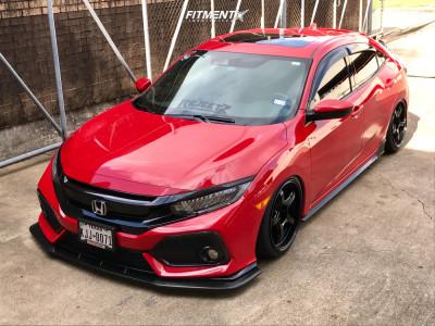 2017 Honda Civic - 18x9 20mm - WedsSport Rn-05m - Air Suspension - 215/40R18