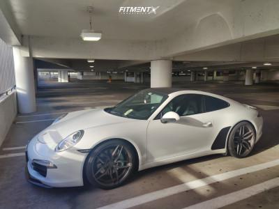 2016 Porsche 911 - 20x9 45mm - Ferrada F8-fr5 - Lowering Springs - 245/35R20