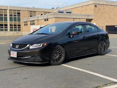 2014 Honda Civic - 18x8.75 36mm - XXR 553 - Coilovers - 225/40R18