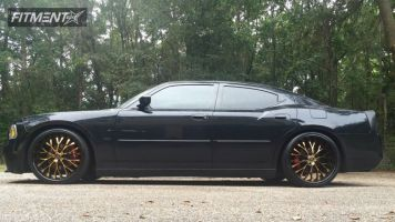 2006 Dodge Charger - 22x8.5 20mm - Lorenzo WL027 - Lowered on Springs - 225/30R22