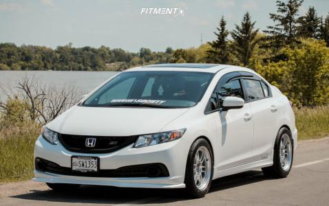 2015 Honda Civic - 17x9 35mm - Enkei Rpf1 - Coilovers - 245/45R17