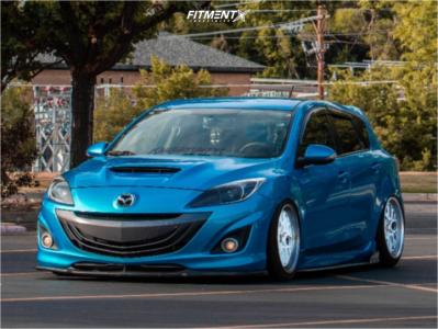 2010 Mazda MazdaSpeed3 - 18x9.5 30mm - ESR Cs11 - Air Suspension - 225/45R18