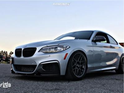 2016 BMW M235i - 18x8.5 38mm - Apex Arc-8 - Lowering Springs - 245/40R18