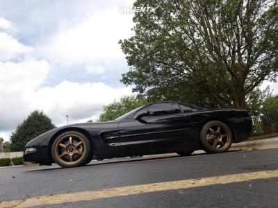 2003 Chevrolet Corvette - 18x8.5 35mm - Konig Hexaform - Stock Suspension - 215/40R18