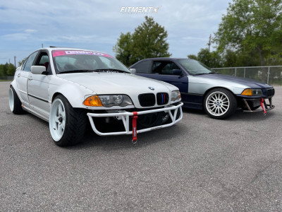 2001 BMW 330i - 18x9 25mm - Cosmis Racing Xt-005r - Coilovers - 215/40R18