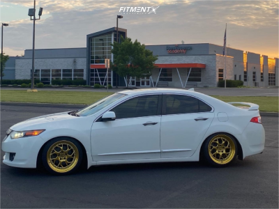 2010 Acura TSX - 18x9.5 35mm - Aodhan Ds01 - Coilovers - 225/40R18