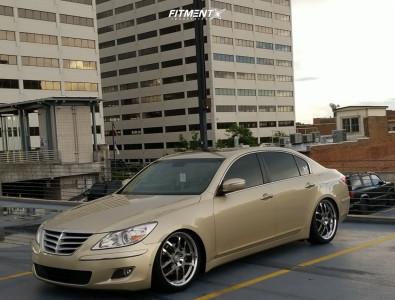 2011 Hyundai Genesis - 20x8.5 45mm - Roush RR04 - Coilovers - 255/35R20