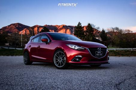 2016 Mazda 3 - 18x8.5 35mm - AVID1 Av21 - Lowering Springs - 225/45R18