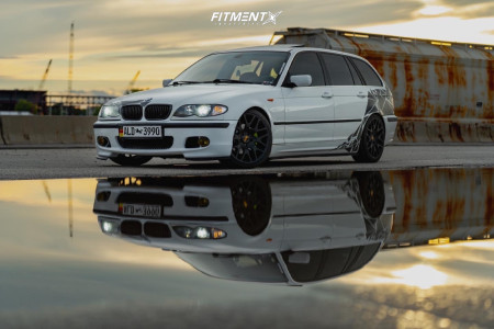 2005 BMW 325i - 18x9 44mm - BBS Ch-r - Coilovers - 215/45R18