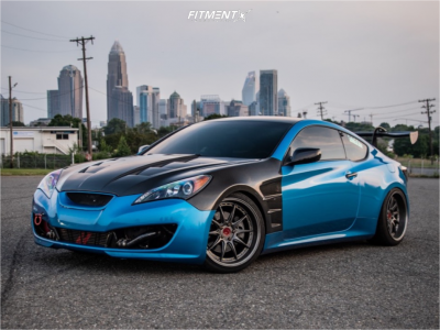 2012 Hyundai Genesis Coupe - 19x9.5 15mm - Aodhan Ds07 - Coilovers - 235/35R19