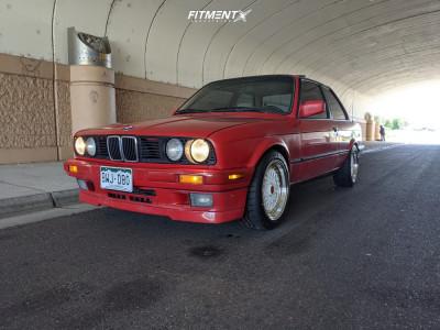 1991 BMW 318is - 16x8 20mm - ESM 002r - Stock Suspension - 215/45R16