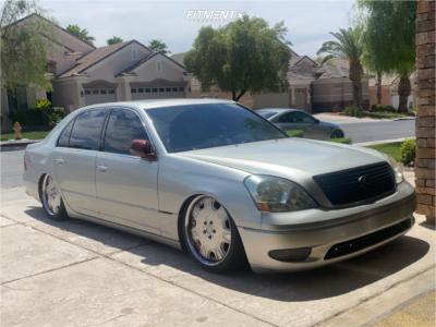 2001 Lexus LS430 - 19x8 45mm - Work Ls507 - Air Suspension - 245/35R19
