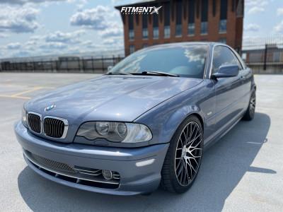 2003 BMW 330Ci - 18x8.5 35mm - Versus Racing Vs442 - Lowering Springs - 235/40R18