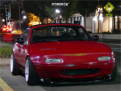 1990 Mazda MX-5 Miata - 15x8 0mm - MST Time Attack - Coilovers - 195/45R15