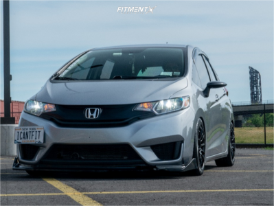 2017 Honda Fit - 15x7 35mm - Konig Dial In - Coilovers - 195/50R15