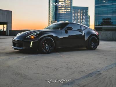 2020 Nissan 370Z - 19x9.5 20mm - Forgestar F14 - Lowering Springs - 255/35R19