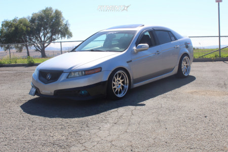 2008 Acura TL - 18x9.5 25mm - Whistler Kr7 - Coilovers - 225/40R18