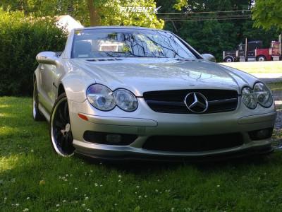 2003 Mercedes-Benz SL55 AMG - 19x8.5 45mm - Mandrus Millennium - Stock Suspension - 255/35R19