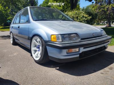 1990 Honda Civic - 16x8.25 25mm - JNC Jnc014 - Coilovers - 205/45R16