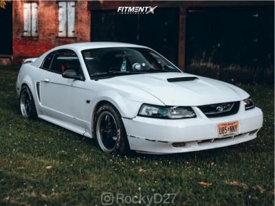 2000 Ford Mustang - 17x9.5 25mm - American Muscle Bullitt - Lowering Springs - 275/40R17
