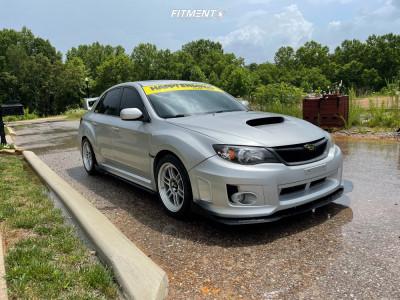 2011 Subaru Impreza - 17x9 45mm - Enkei Rpf1 - Lowering Springs - 255/40R17