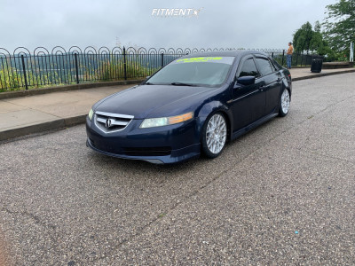 2005 Acura TL - 18x8.5 38mm - Rotiform Blq - Coilovers - 225/40R18