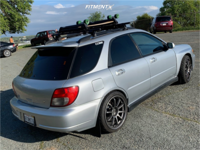 2002 Subaru WRX - 18x9.5 32mm - Bavar Racing Bvr02 - Lowering Springs - 245/35R18