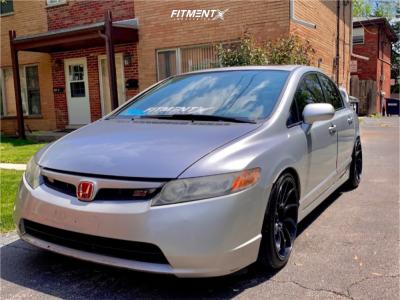 2007 Honda Civic - 18x9.5 35mm - Artisa Artformed Night - Coilovers - 225/40R18