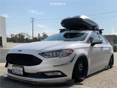2018 Ford Fusion - 19x9.5 22mm - Vors Vr8 - Air Suspension - 215/35R19