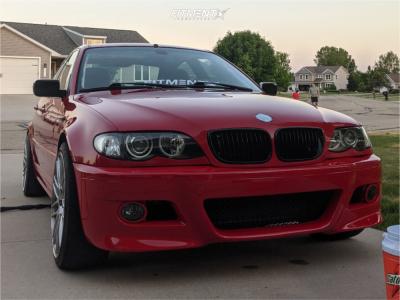 2004 BMW 325xi - 19x9.5 40mm - ASA Gt1 - Lowering Springs - 245/45R19