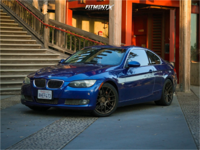 2007 BMW 335i - 18x8.5 35mm - Aodhan Ah-x - Stock Suspension - 235/40R18