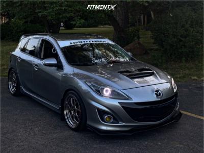 2010 Mazda MazdaSpeed3 - 18x8.5 35mm - Aodhan Ds01 - Lowering Springs - 225/40R18