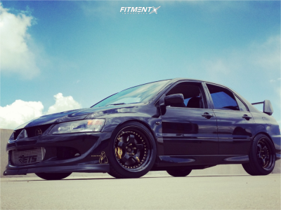 2005 Mitsubishi Lancer - 18x10 18mm - Work Meister S1 3p - Coilovers - 235/45R18