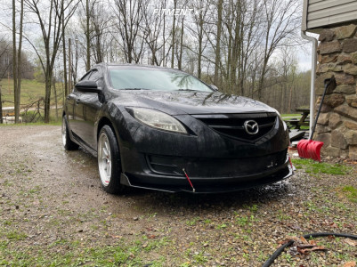 2010 Mazda 6 - 18x8.5 35mm - Aodhan Ds08 - Stock Suspension - 225/45R18